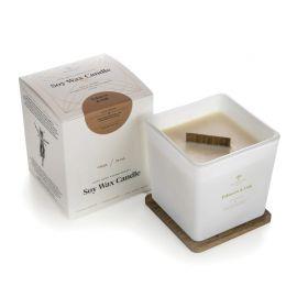 Aromaterapinė Sojų Vaško Žvakė Tobacco & Oak WHITE/GOLD 450g
