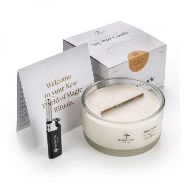 Aromaterapinė Sojų Vaško Žvakė Mango 650g