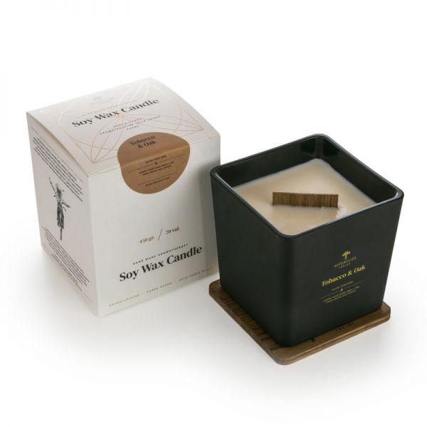 Aromaterapinė Sojų Vaško Žvakė Baltic Amber BLACK/GOLD 450g