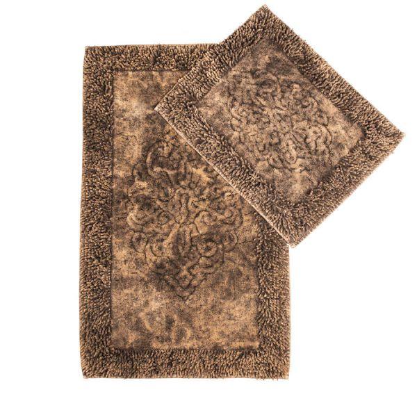 Kilimėliai voniai ir tualetui KAHVE tamsiai rudi
