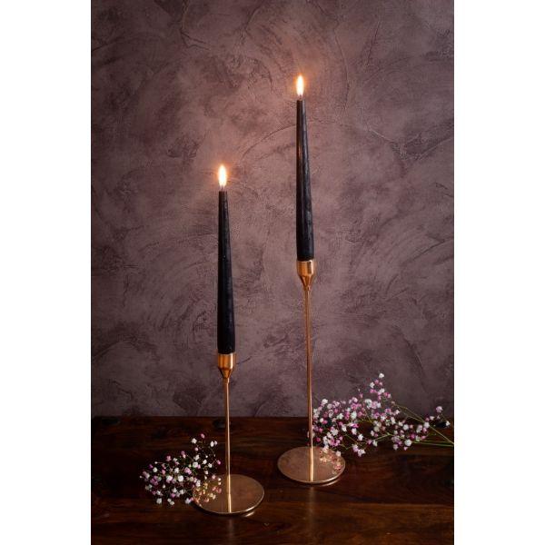 Nerūdijančio plieno žvakidžių komplektas H 23 ir H 33 cm