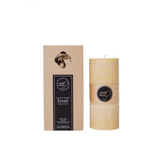 """Candle Family kvepianti palmių vaško žvakė """"Pievų SMILGOS"""" apvali, PIKSMAP"""
