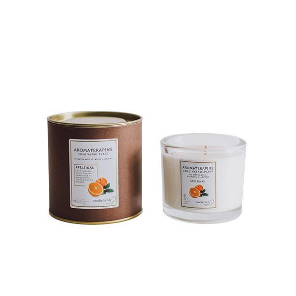 Candle Family sojų vaško žvakė Apelsinas, EZAP