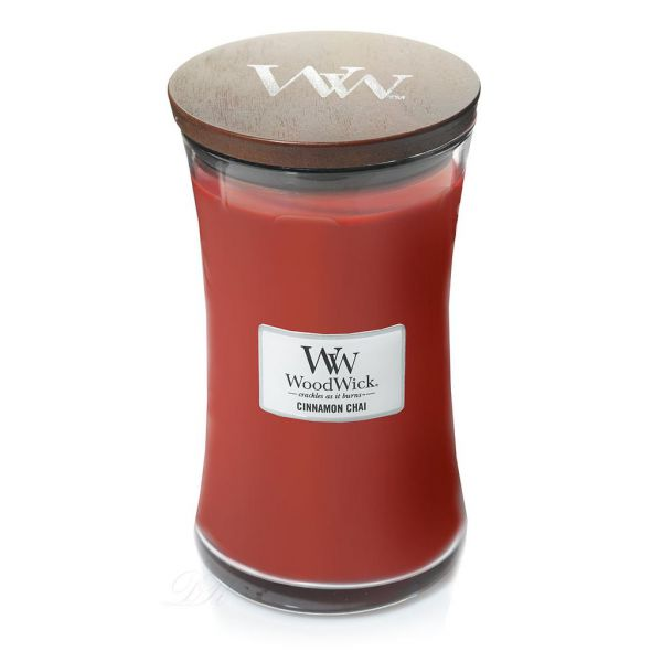 WoodWick large jar cinnamon chai žvakė