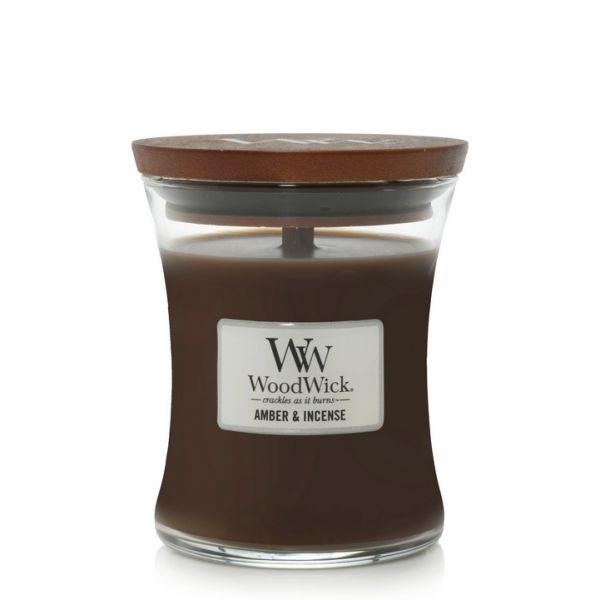 WoodWick medium jar amber and incense žvakė
