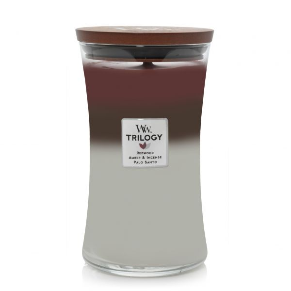 WoodWick trilogy large jar forest retreat žvakė