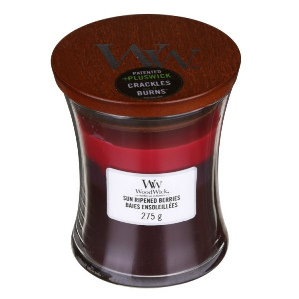 WoodWick trilogy medium jar Sun ripended berries žvakė