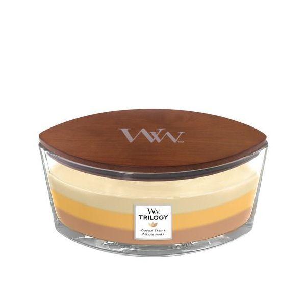 WoodWick Trilogy Golden Treats žvakė