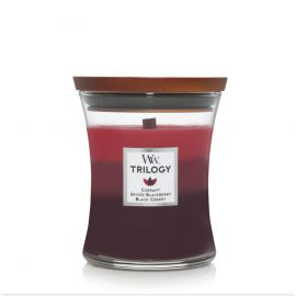 WoodWick Medium Trilogy Sun Ripened Berries žvakė