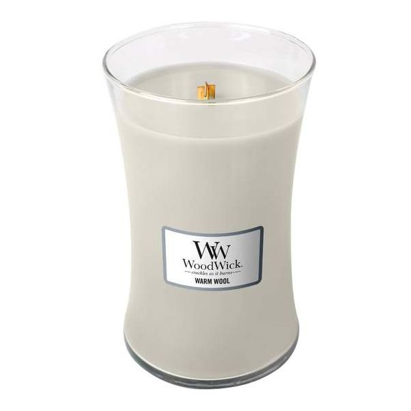 WoodWick Large Warm Wool žvakė