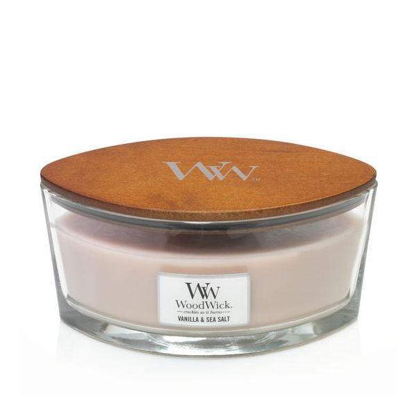 WoodWick Ellipse Vanilla Sea Salt žvakė