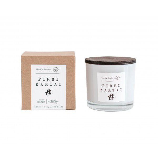"""Candle Family Sojų vaško žvakė """"Pirmi kartai"""", SVZAS"""
