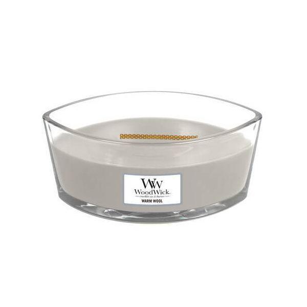 WoodWick Ellipse Warm Wool žvakė