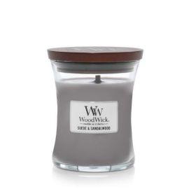 WoodWick Suede & Sandalwood žvakė