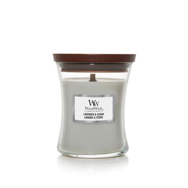 WoodWick Lavender & Cedar žvakė