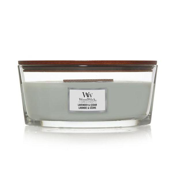WoodWick Ellipse Lavender & Cedar žvakė