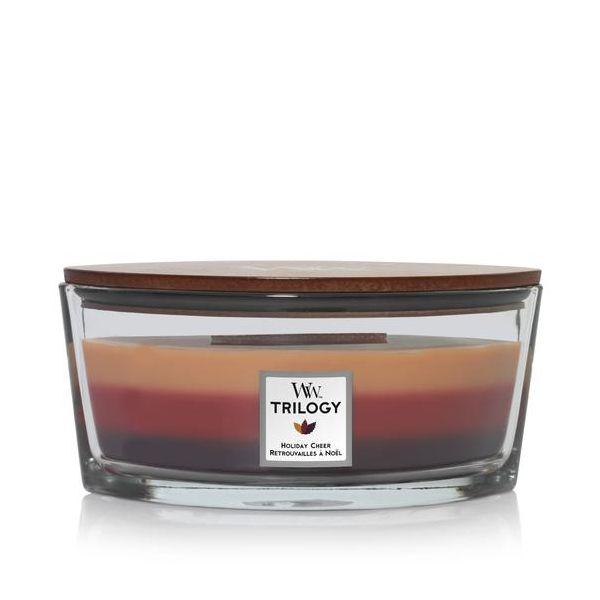 WoodWick Ellipse Trilogy Holiday Cheer žvakė