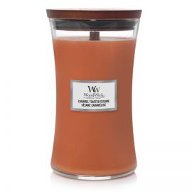 WoodWick large jar Caramel Toasted Sesame žvakė