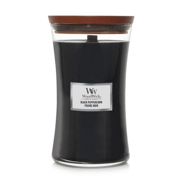 WoodWick large jar Black Peppercorn žvakė
