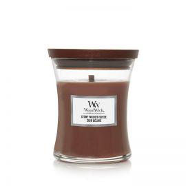 WoodWick Stone Washed Suede žvakė