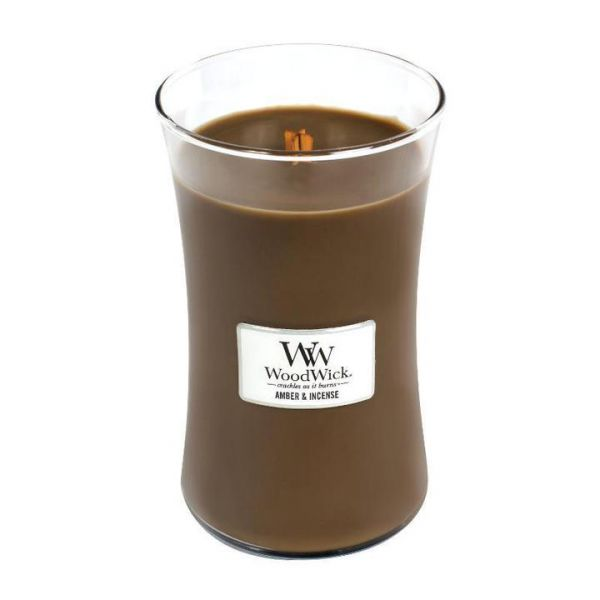 WoodWick large jar Amber & Incense žvakė
