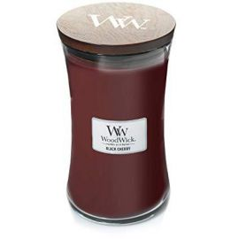 WoodWick large jar Black cherry žvakė