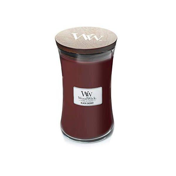 WoodWick large jar Black cherry žvakė