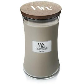 WoodWick large jar Fireside žvakė