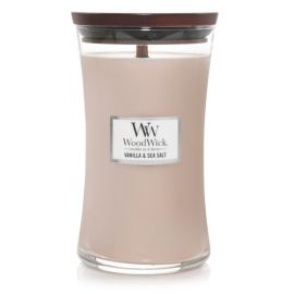 WoodWick large jar Vanilla sea salt žvakė