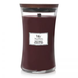 WoodWick large jar Velvet Tobacco žvakė