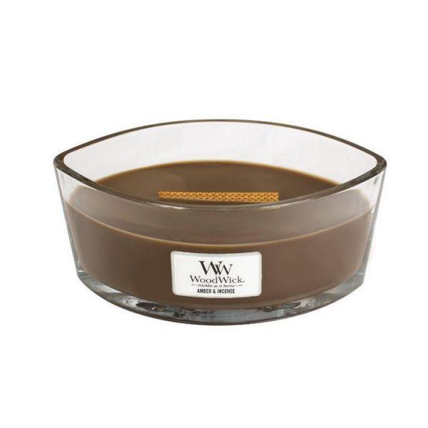 WoodWick Ellipse Amber & Incense žvakė