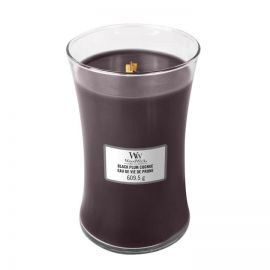 WoodWick large jar Black Plump Cognac žvakė