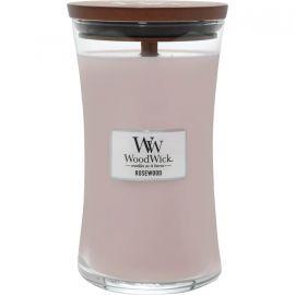 WoodWick large jar Rosewood žvakė