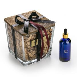Aromaterapinis Kvapas Namams su Mediena Premium TOBACCO & OAK