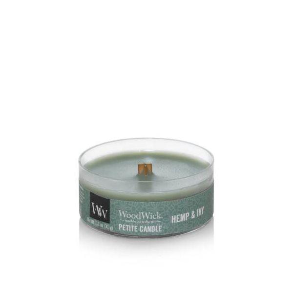 WoodWick Petite Hemp & Ivy žvakė