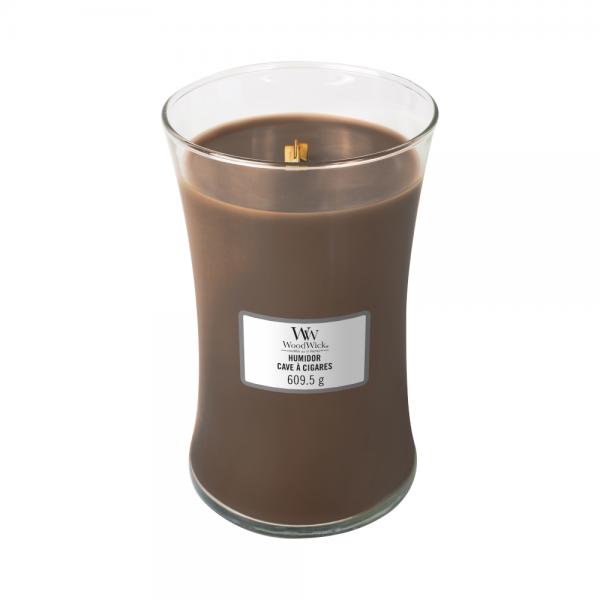WoodWick large jar Humidor žvakė