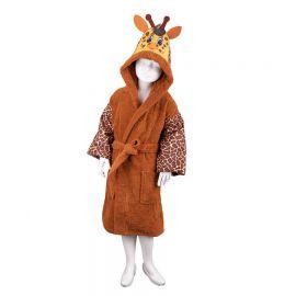 Vaikiškas chalatas su kapišonu Žirafa