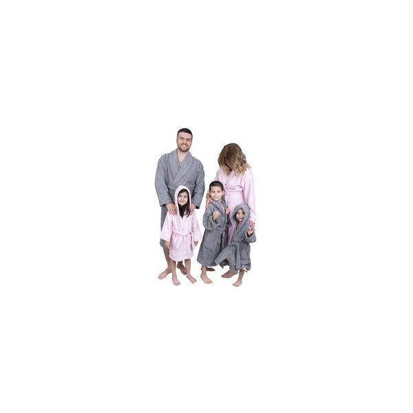 Vaikiškas rožinės spalvos chalatas su kapišonu Bebe Pembe